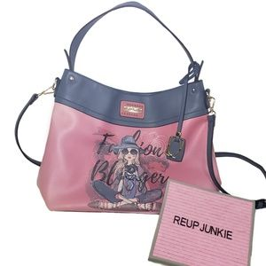 Nikky U.S.A. Pink & Blue Shopper Bag